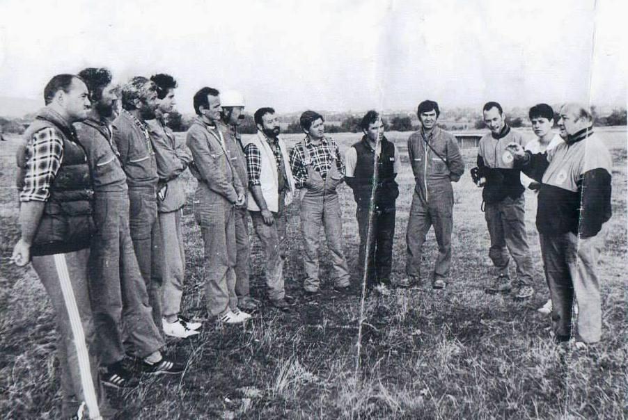 Курс за спасителни кучета с инструктор италианеца Енцо 1990 г.
