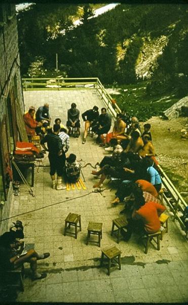 Курс трудни терени 1972 г хижа Вихрен