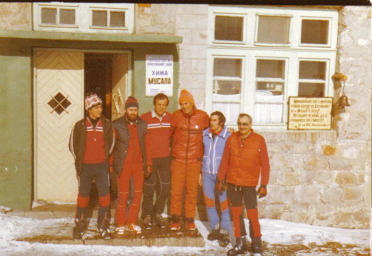 С Петър Москов и румънски спасители на хижа Мусала 1984 г