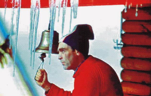 Петър Москов на старата хижа Алеко